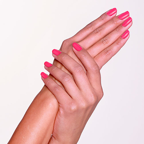 Cut Pink Nail Polish